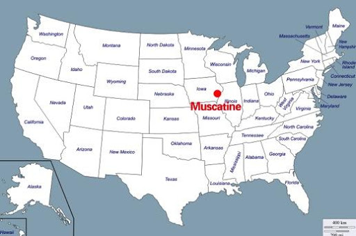 Muscatine Map