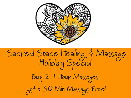 Sacred Space Healing and Massage Special