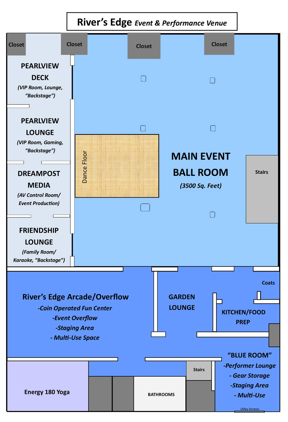 River's Edge Event Center Floor Plan